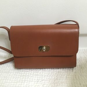 A.P.C GREENWICH BROWN LEATHER CROSSBODY BAG